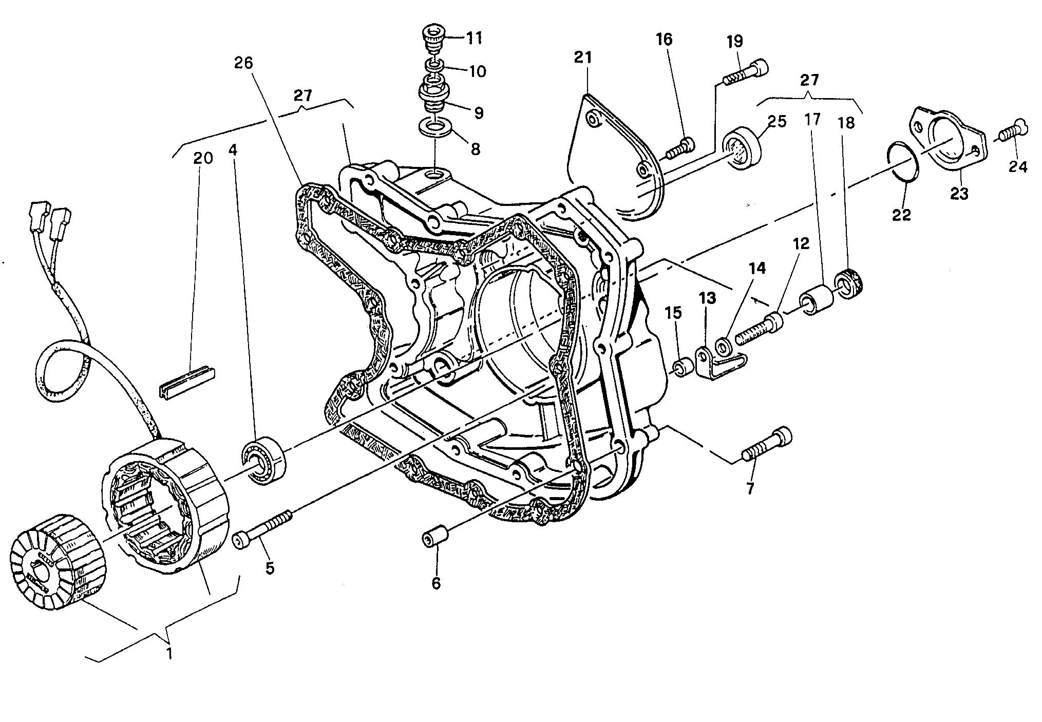011 COUVERCLE GENERATEUR POUR SUPERSPORT 400 SS 1993
